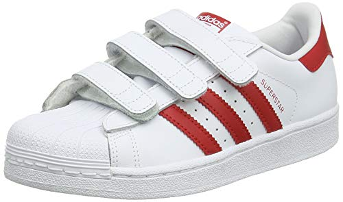 Adidas Superstar CF C, Zapatillas de Gimnasia Unisex Niños, Blanco (FTWR White/Scarlet/Scarlet FTWR White/Scarlet/Scarlet), 34 EU