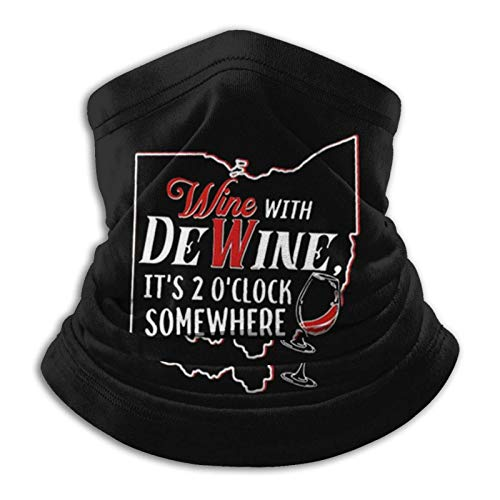 fenrris65 - Fascia da collo, unisex, senza cuciture, con scritta 'Wine with Dewine Itâ €s Oâ Clock Somewhere