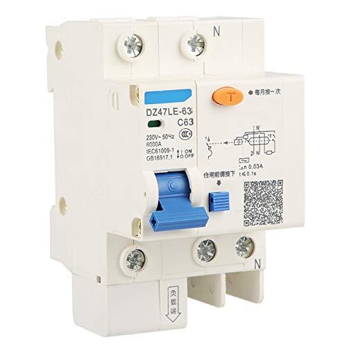 Mini interruptor diferencial 230 V 63 A DZ47LE-32 1P+N Protección contra las fugas RCCB para la construcción de ingeniería
