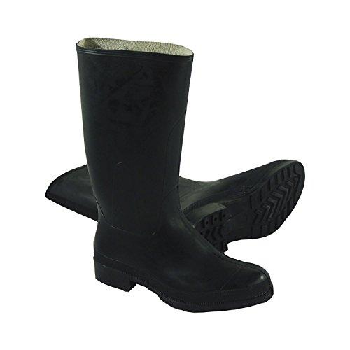 Druk rubberen laarzen, met een hoge as, Größe 43, Zwart, 1