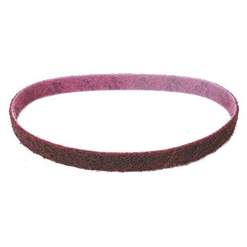 2 Stück 3M Scotch-Brite Vliesband/Schleifband SC-BS | 25 x 762 mm | z.B. für Holzmann BT75 230V Band - Tellerschleifer oder Dynabrade Dynabelter | Körnung nach Wahl (A-med (mittel - Korn 120) rot)