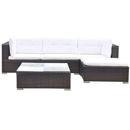vidaXL Gartenmöbel 14-TLG. Poly Rattan Sofa Lounge Sitzgruppe Gartengarnitur - 3