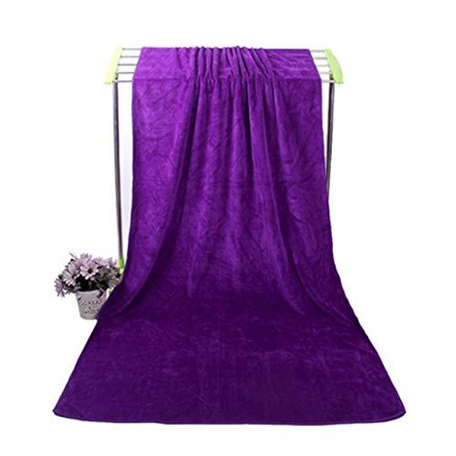 IAMZHL Microfibra para Toalla De Playa Toallas De Baño Súper Grandes Absorbentes De Agua Súper Suave Deportes Aqua Gym Toalla De Microfibra-Dark purple-70x140cm 80x180cm