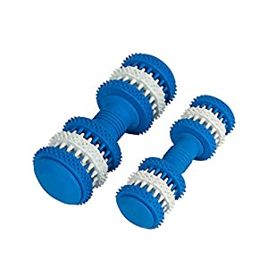 Interactive Puppy Toys–Squeak Dog Agility jouet en caoutchouc pour chiot et petit Medium Chiens de grande taille–Remplir jouet à mâcher avec des friandises pour arrêter l'Ennui Chew Toys–Bone Forme Motif Nettoie les dents