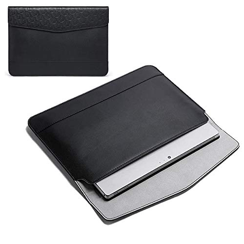 """Genuine Leather Slim Laptop Sleeve Case Cover Bag for 13-inch MacBook Pro/ 12.2' Samsung Chromebook Plus V2/11.6"""" Chromebook 3/Galaxy Book 2/ Microsoft Surface Pro 7/6/X Google Pixel Slate/Dell XPS 13"""