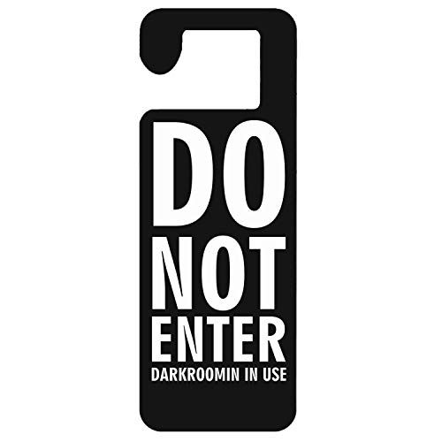 Mr kennys& Lucky 7 Do Not Enter Darkroom in Use-2 Durable Wooden Door Knob Hanger Sign for Home,Hotel,Office, Clinic, Therapy Warning Room Sign