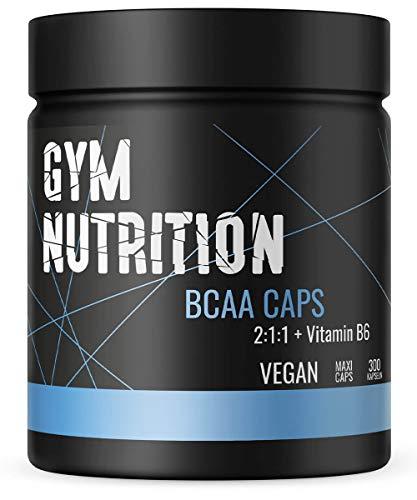 BCAA Kapseln 1100 + Vitamin B6 – Essentieller Amino Komplex 2:1:1 – Hochdosiert Und Vegan – 300 BCAAs Kapseln – Made in Germany