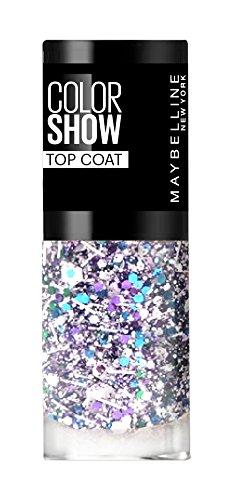 Maybelline New York Colorshow - Top Coat -02 White Splatter - Particules bleus-violettes