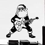 Tianpengyuanshuai Tocando la Guitarra Pegatinas de Pared Creativas Especiales Sala de Navidad decoración Fresca 42X42cm