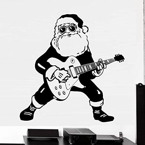 Tianpengyuanshuai Gitarre Spielen spezielle kreative Wandaufkleber Weihnachtszimmer Coole Dekoration 63X63cm