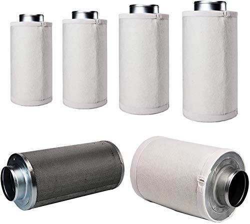 LABT Luft-Filter Flanschgröße 150mm   für 800m³/h Luftumsatz, Luftreiniger, Aktivkohle-, Geruchsfilter - Profi Qualität für Gastronomie, Pflanzenzucht - geruchsneutralisierend, Grow, Staubvorfilter