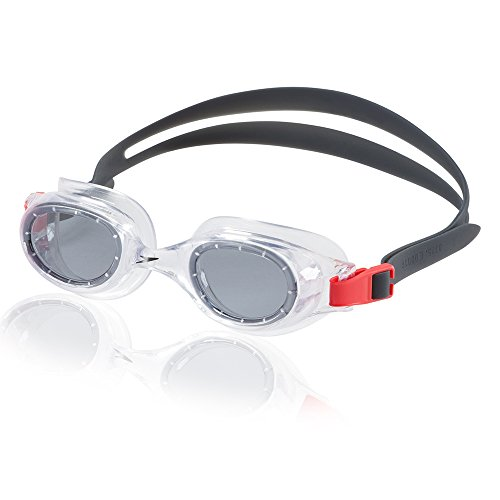 Speedo Unisex-Adult Swim Goggles Hydrospex Classic Smoke Ice, One Size