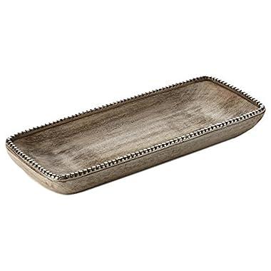 Hallmark Driftwood and Metal Tray