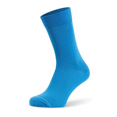 Tiger's Milk Herren Business Premium Socken aus feinster merzerisierter Baumwolle Uni Regatta Blau 1 Paar Größe 43-46