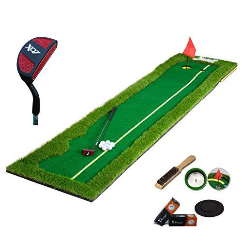 JIE meubel voor het huishouden, golfputter, putter, golfmat, oefenmat, draagbaar, 1 x Green Slope Pad + 1 x Pusher + 6 x Golf + 1 x gat van roestvrij staal + 1