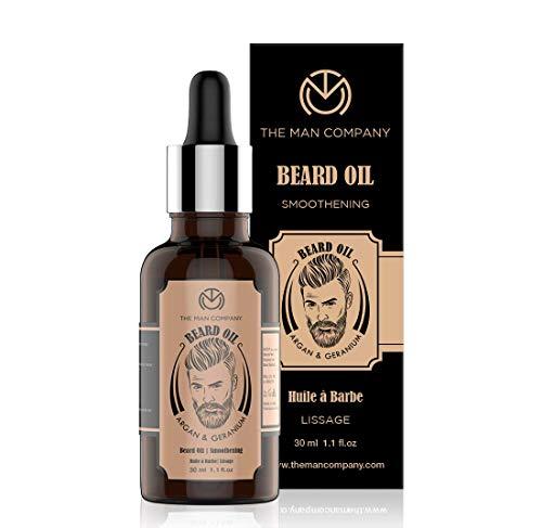 The Man Company Beard Growth Oil With Argan & Geranium For Beard Growth | Softness, Shine | 30 ML