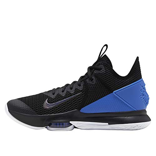 Nike Men's Lebron Witness IV Basketball Shoes (Black/Clear-Hyper Cobalt, Numeric_11_Point_5)