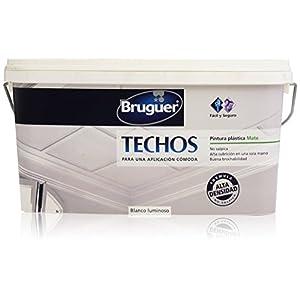 Bruguer – Techos pintura plástica mate – Color blanco luminoso – 2.5 l