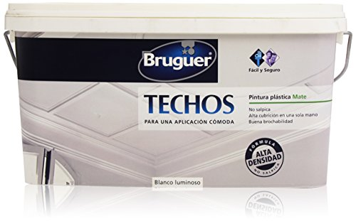 Bruguer - Techos pintura plástica mate - Color blanco luminoso - 2.5 l