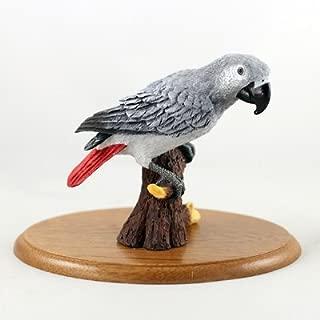 Stone Resin Realistic African Grey Figurine