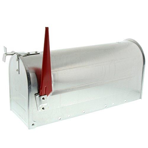 BURG-WÄCHTER Briefkasten amerikanisch, U.S. Mailbox mit schwenkbarer Fahne ohne Namensschild, Aluminium, US-Box 892 ALU