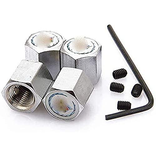 4 Piezas Coche Neumático Aluminio Tapas para válvulas con Logotipo, para Cadillac Alle Modelle