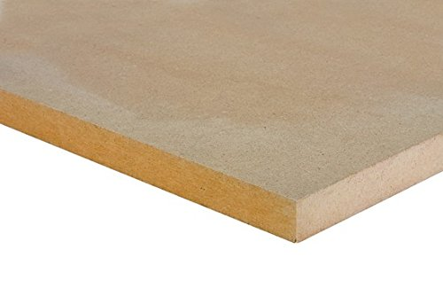 platten-zuschnitte.de MDF Tavola 10 mm Densità Trim Mobili in legno Crafts Shelf Media Fibreboard LxBxH (mm): 500x250x10