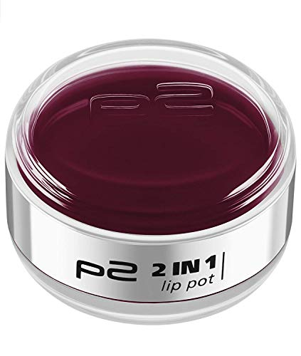 TOP SHOP P2 Cosmetics Lipgloss und Glossy 2in1 Lip Pot 040, 3er Pack