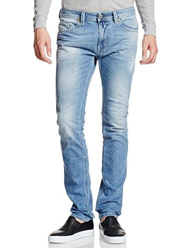 Diesel Herren Skinny Jeans Thavar, Blau (Light Blue 0842H), W36/L32