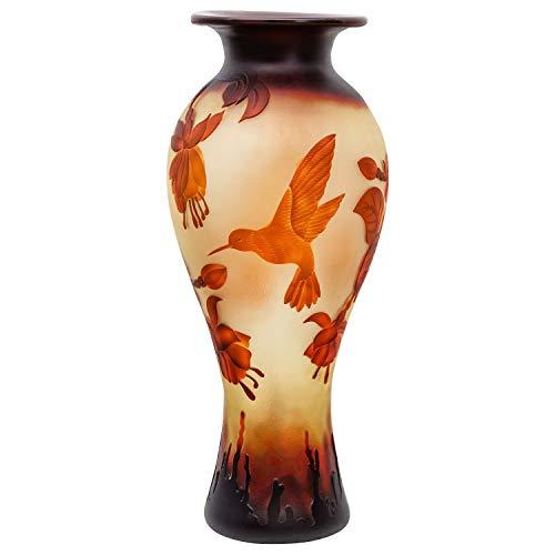 aubaho Vase Replika nach Galle Gallé Kolibri Glas Antik-Jugendstil-Stil Kopie c5