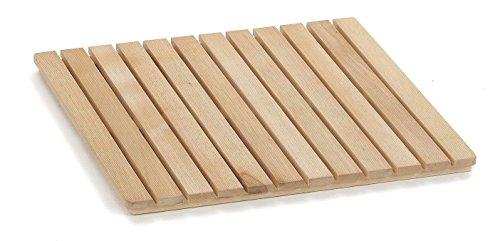 ARREDAMENTIITALIA Arredamenti Italia Duschplattform Samoa 60, wasserabweisendes Holz - Farbe: Naturlich AR-It il Cuore del Legno