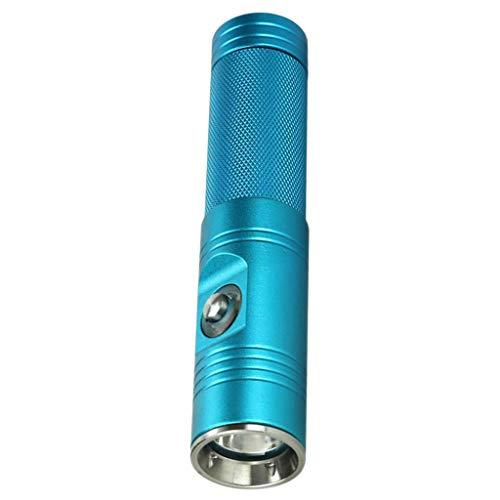 T TOOYFUL Tauchen Taschenlampe Taucherleuchte Taucherlampe 1200 Lumen LED wasserdicht Unterwassersport Beleuchtung Handlampe - Blau
