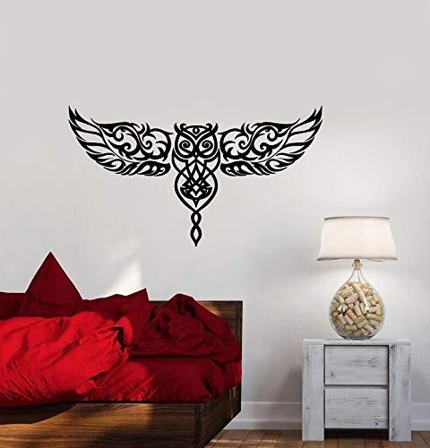 Vinilo adhesivo para pared búho pájaro ala | pegatina creativa regalo DIY calcomanía de pared decoración de pared decoración de pared
