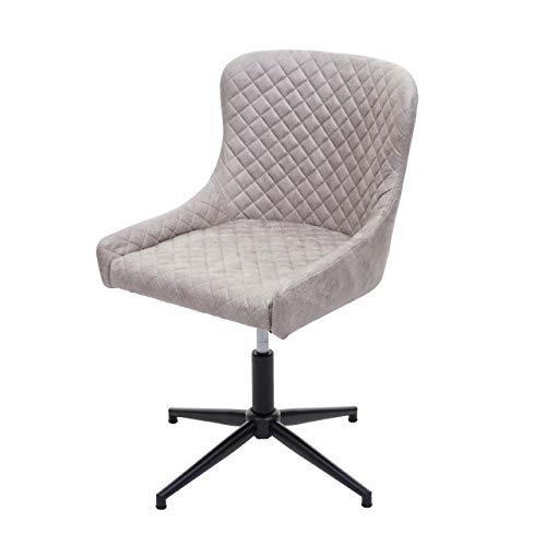 Bürostuhl HWC-H79, Schreibtischstuhl Drehstuhl, höhenverstellbar Vintage Metall ~ Stoff/Textil grau