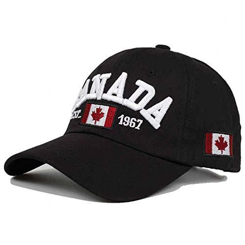 CHENGWJ Baseball Kappe Baumwolle Gorras Kanada Baseball Cap Flagge Von Kanada Hut Snapback Verstellbare Herren Baseball Caps Snapback Hut