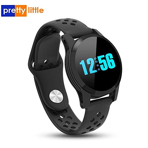 Q9 Smartwatchs Wasserdichte Blutdruck-Herzfrequenz IP68 Herren Smartwatch Android Uhr Fitness Aktivität Intelligente Sportuhr (Blau)