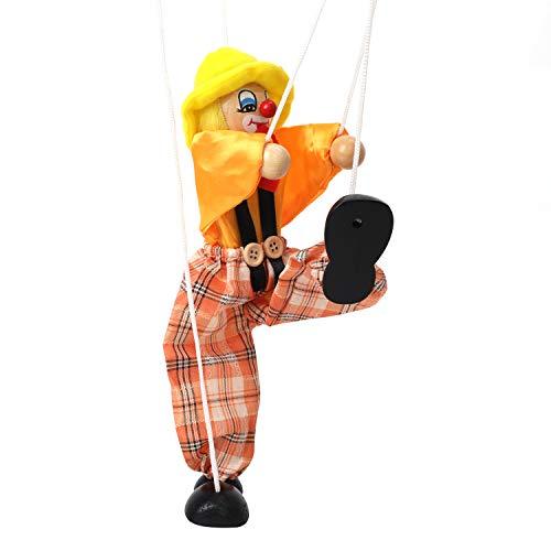 IPENNY - Marionetas con cuerdas, madera de Marionetas a mano, juguetes para rnfantes divertidos, regalo para Halloween
