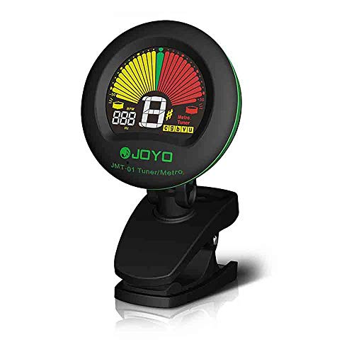 Generic JOYO JMT-01 Clip-on Electric Guitar Tuner & Metronome Built-in Mic Color Screen for Acoustic Guitar Bass Violin Ukulele (as picture)