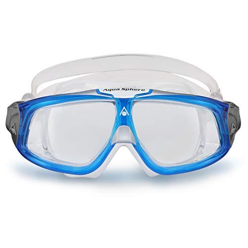 Aqua Sphere Seal 2.0, Maschera da Nuoto Unisex Adulto, Blu Chiaro & Bianco/Lenti Chiare, Taglia unica