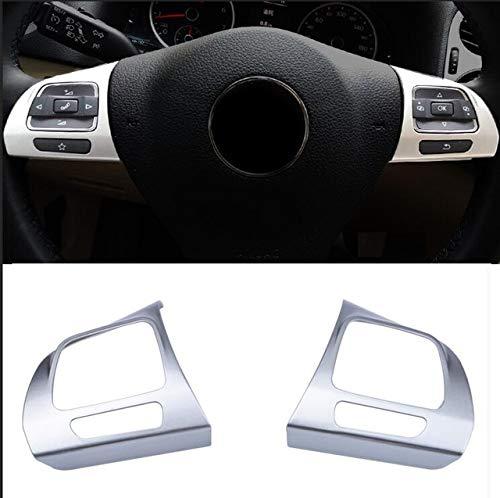 HDCF 2 pcs Chrome Garniture Volant Sticker pour s'adapter pour Golf MK6 Passat B7 CC EOS TIGUAN Jetta Touran Sharan Caddy Autocollant Moulure garnir