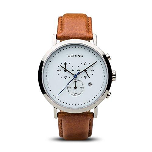 BERING Unisex-Armbanduhr Analog Quarz Leder 10540-504