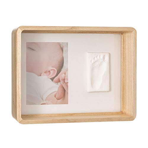 Baby Art My Sweet Print Marco de fotos de madera con kit de huellas de bebé, portafotos para bautizo, original idea de regalo para nacimiento, color madera