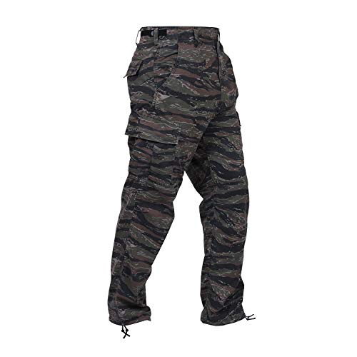Rothco Camo Tactical BDU (Battle Dress Uniform) Military Cargo Pants, Tiger Stripe Camo, XL