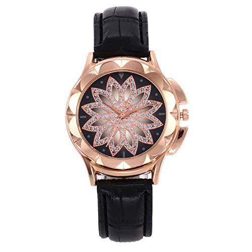 12 relojes de pulsera brillantes con tachuelas de diamante para señoras de moda tendencia correa de cuero relojes regalos de cumpleaños regalo de Navidad