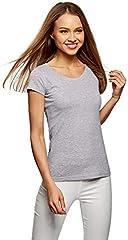oodji Camiseta Básica de Algodón Mujer
