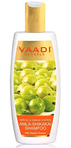 Vaadi Herbals Amla Shikakai Shampooing anti-pelliculaire pour la croissance des cheveux 350 ml