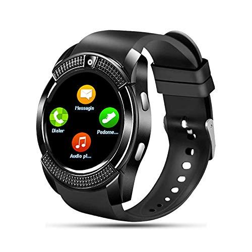 SEPVER Reloj Inteligente para Hombre Mujer Niños, Smartwatch con Tarjeta Sim , Smart Watch con Whatsapp notificación, Podómetro Actividad Inteligente con Control de música para Android (Negro)