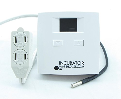 Incubator Warehouse Plug 'n Play Digital Electronic Thermostat with Remote Sensor
