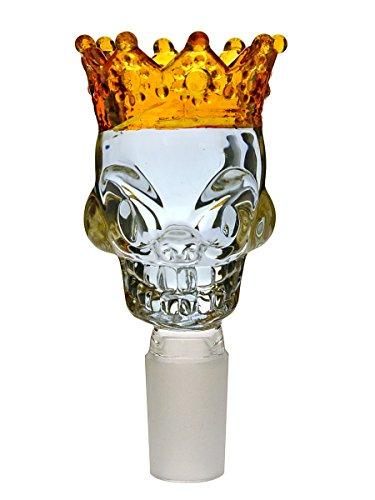 Skull King Bong-Totenkopf violett/Gold 18,8 mm - Head&Nature Bong-Kollektion