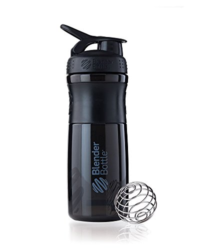 BlenderBottle Sportmixer Tritan Shaker / PRotein Shaker / Wasserflasche / Diät shaker (28oz / 820 ml) - schwarz/schwarz